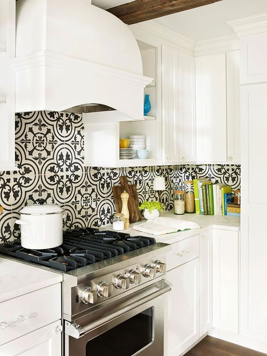 Swap Out Your Existing Kitchen Backsplash With Cement Tile To Change The Entire Look Of Space